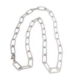 Paperclip Schakelketting Zilverkleur - Stainless Steel
