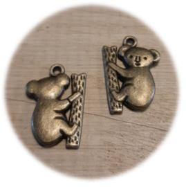 Bedel Hanger 3D Koala Beertje – Antiek Brons Metaal – 20x14mm