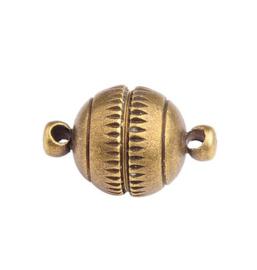 Magneetslot  Rond Oud Bronskleur  - 16x10mm