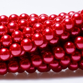 Glasparels - Rood - 4mm, 6mm of 8mm