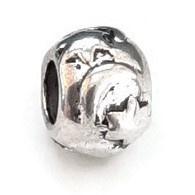 Metalen kraal met groot gat - Zon Maan en Sterren -  9x7mm - gat 4.5mm