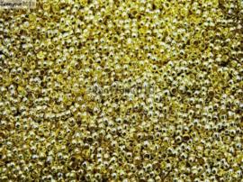 Knijpkraaltjes rond goudkleur  - 2x1.3mm - 100 stuks