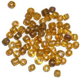 Glas rocaille 4mm (6.0) Oranje AB - Per zakje ca 5 gram