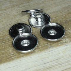 Chunk achterkant met klein opstaand randje voor 16mm cabochon