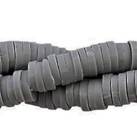 Katsuki Kralen 6mm – Donker Grijs - ca 70 stuks