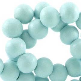 Houten kralen 6mm Turquoise - 30 stuks