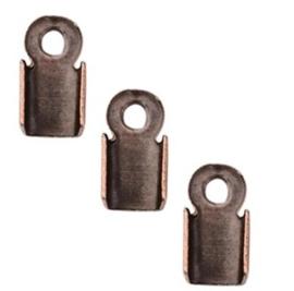 Veterklem - Antiek Koperkleur - 6x3mm - 40 stuks