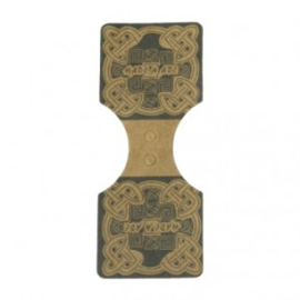 Sieradenkaartje bruin karton - met handmade tekst - 90x35mm - 10 stuks