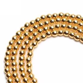 Goudkleur Hematiet Kralen Rond - 3mm, 4mm of 6mm - 10 stuks