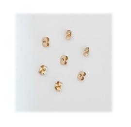RVS Oorbel achterkantje - Goudkleur - 5x3.5mm - 5 paar