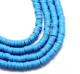 Katsuki Kralen 4mm – Azuurblauw - ca 70 stuks of streng