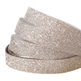 Crystal glitter tape 10mm Champagne beige  - 20cm