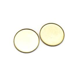 Zetkastje voor 18mm ronde cabochon - Goudkleur
