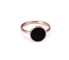 316L Stainless Steel Ring Rose Gold met 11mm knop