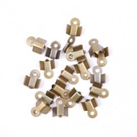 Veter / Lintklemmetjes Brons 6 x 3mm - 10 stuks