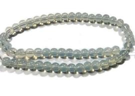 Opaal Glaskralen Wit - 6mm - streng ca 50 stuks