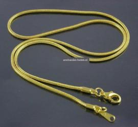 Goudkleur Slangen Ketting  - 45cm