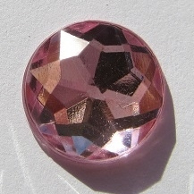 Crystal cabochon 18mm Transparant Roze