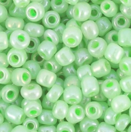 Glas rocaille-4mm (6.0) Pastelgroen Ceylon - Per zakje ca 5 gram
