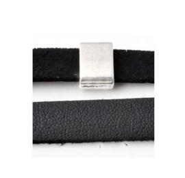 Plat Imitatieleer Zwart – 10x1.5mm - 95cm