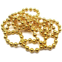 Bolletjes ketting goudkleur metaal - 1 meter