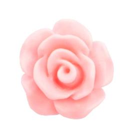 Roosje Kraal Acryl 10mm - Mat Licht Roze  - 3 stuks - met rijggaatje