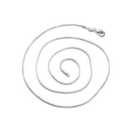 Slangen Ketting Halsketting  - 925 verzilverd