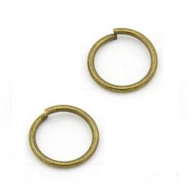 Metaal montage ringetjes brons / antiek goud 7x1.0mm - 50 stuks
