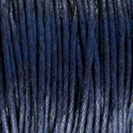 Waxdraad Donker Nacht Blauw - 1mm x 2 meter