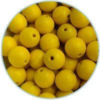 DQ Houten kralen 14mm Geel – 5 stuks