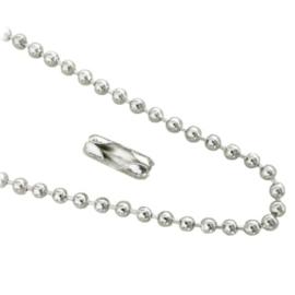 Bolletjesketting - silverplated - zilverkleur - dikte 3mm