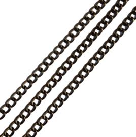 Ketting Metaal Antiekbrons ± 5.5x4mm - 50cm