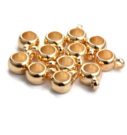 Metallook Kralen  met oog - Goudkleur - 5 stuks