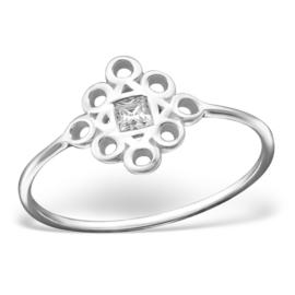Zilveren Ring met Zirkiona - 925 sterling zilver