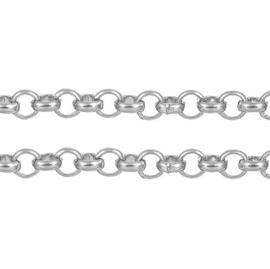 Halsketting Metaal - Rolo Jasseron - 5.0mm