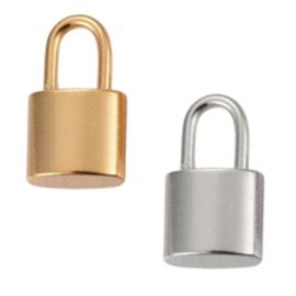 RVS hangslot - goud of zilverkleur hanger 17x10x4mm