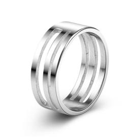 Ring  met gleuven voor openen en sluiten van montageringetjes - RVS