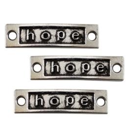 Tussenzetsel Metaal   Keuze uit Tekst: Believe, Hope of Sister