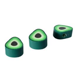 Polymeer Kralen Avocado - 11.5x9x5mm - 5 stuks