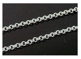 Jasseron Ketting, silverplated metaal, schakel 2mm, ca 1 meter