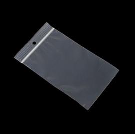Gripzakjes - transparant met 5 mm gat 100 stuks - keus uit 3 formaten