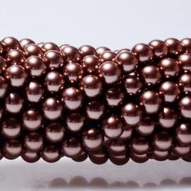 Glasparels Choco Bruin  4mm, 6mm of 8mm