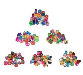 Polymeer klei kralen mix, 10mm - 10 stuks