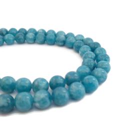 Blauwe Jade Kralen - 6mm - 10 stuks