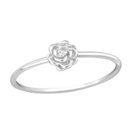 Zilveren Ring met Roosje - 925 sterling zilver