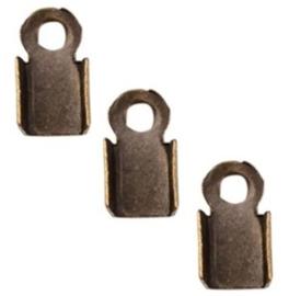 Veterklem - Antiek Bronskleur - 6x3mm - 40 stuks