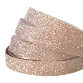 Crystal glitter tape 10mm Light rosegold  - 20cm