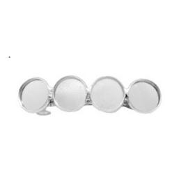 Haarknip voor 20mm cabochons met 4 settings - Zilverkleur