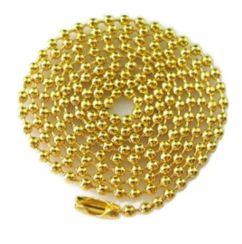 Bolletjes Ketting Goudkleur - 2.5mm