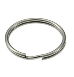 Sleutelhanger ring  - Platinumkleur  - Splitringen